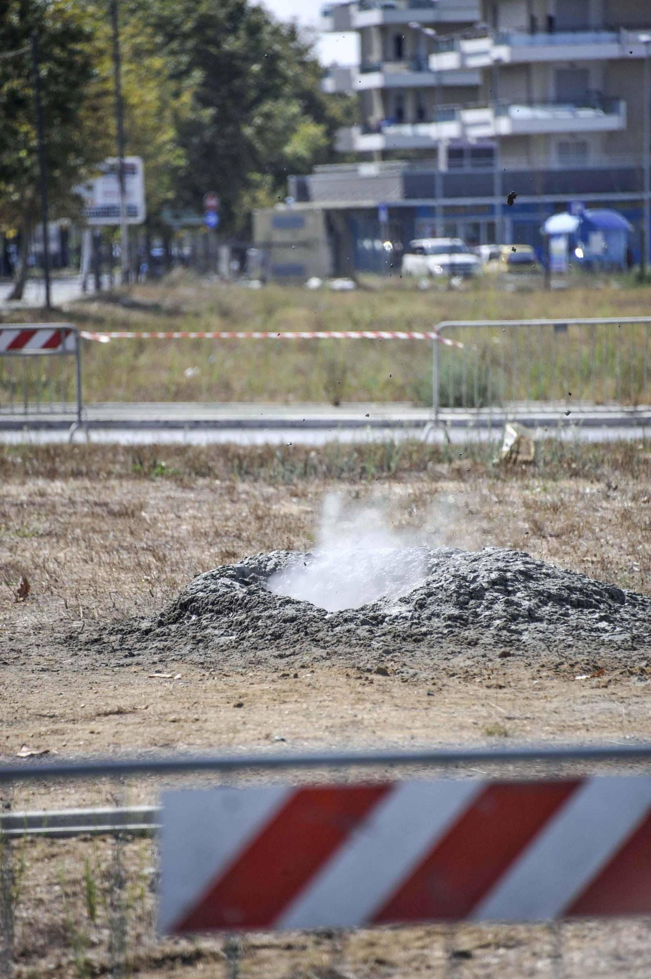 Un altro dei geyser a Fiumicino (Proto)