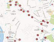 Guarda la mappa dei camion bar intorno ai Fori
