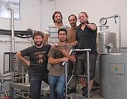 I ragazzi del laboratorio di produzione della Birra del Borgo a Borgorose