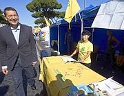 Il sindaco Marino agli stand di Legambiente (Jpeg)