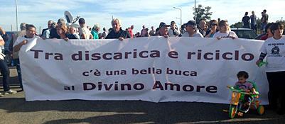 La protesta contro la discarica di Falcognana (Jpeg)