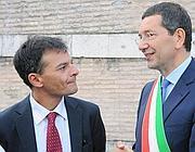 Stefano Fassina con il sindaco Marino (Omniroma)