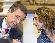 Marino con l'assessore capitolino al Bilancio Morgante (foto Jpeg)