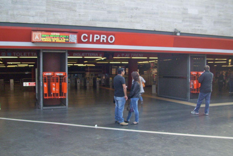 La fermata Cipro della metro A (Proto)