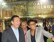 Marino con Imma Battaglia al Gay Village (Omniroma)