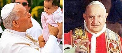 Papa Wojtyla e papa Giovanni XXIII: santi il 27 aprile 2014