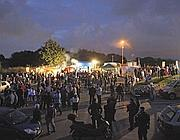 La festa davanti al sito di Falcognana (foto Jpeg)
