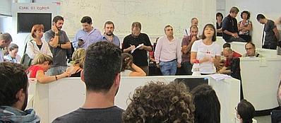 I precari Istat riuniti in protesta