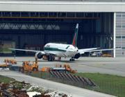 Gli hangar della Alitalia Maintenance Systems a Fiumicino (Imacoeconimica)