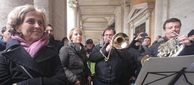 Il concerto-protesta in Campidoglio dell'orchestra e del coro del Teatro dell'Opera (Jpeg)