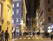 Prime luci natalizie in via del Corso (Jpeg)