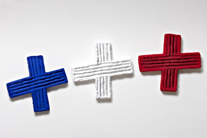 Novanta artisti per una bandiera for Pino pinelli