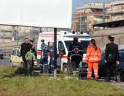 Un intervento d'emergenza della Cri (foto Proto)