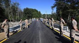 Terremoto, riaperto ad Amatrice il Ponte a Tre Occhi