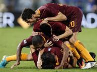 Roma show contro l'Inter Spalletti: «Che bella vittoria» Dzeko: «Devo fare più gol»