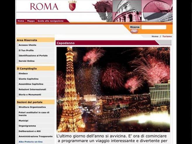 Capodanno, il sito del Comune di Roma sponsorizza i viaggi  nelle altre Capitali