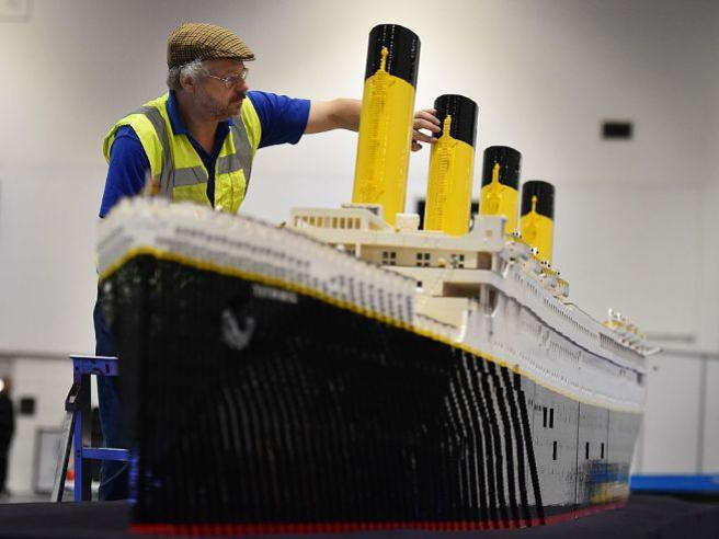 Mostra Lego Roma, il Titanic «affondato» da due ragazzini