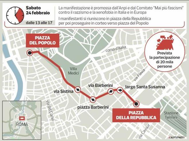 Anpi,  antagonisti, Cobas: i cortei di sabato che spaventano Roma In piazza 3.500 agenti