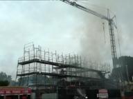 Incendio in un cantiere sulla Anagnina: nessun ferito