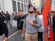 Studenti in piazza a Roma, l'omaggio al rapper Cranio Randagio