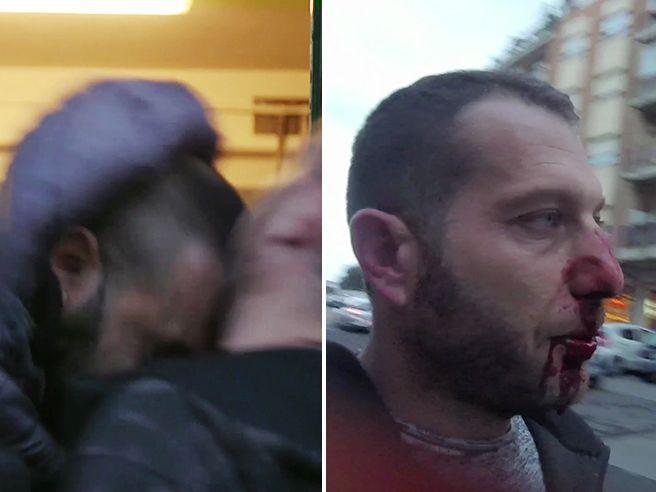Fratello del boss rompe il naso al cronista Il picchiatore: chi è |Clan in ascesa  -  video